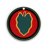 24th Infantry Ornament (Round)