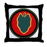 24th Infantry Throw Pillow