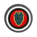 24th Infantry Wall Clock