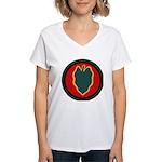 24th Infantry Women's V-Neck T-Shirt