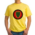 24th Infantry Yellow T-Shirt