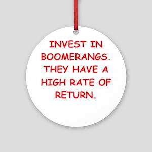 boomerang Ornament (Round)