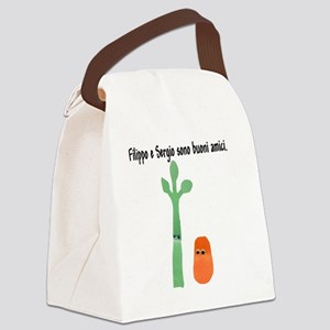 2-filippo e sergio straight text Canvas Lunch Bag