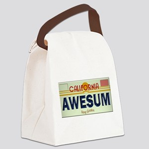 Awesome Cal Plate Canvas Lunch Bag