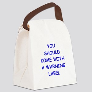 warning Canvas Lunch Bag