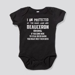 I am protected by the good lord and Baby Bodysuit