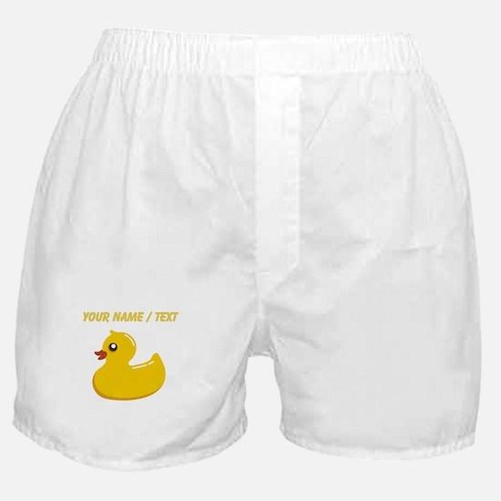 Custom Rubber Duck Boxer Shorts
