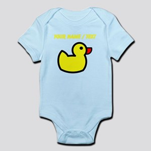 Custom Yellow Duck Drawing Body Suit