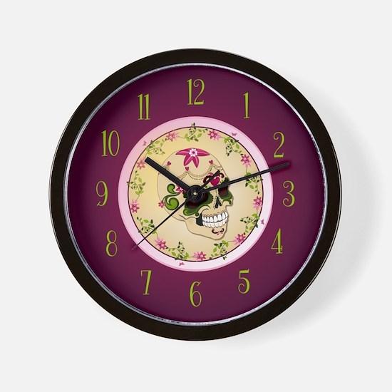 Sugar Skull Clock Wall Clock