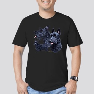 Scottish Terrier Men's Fitted T-Shirt (Dark)