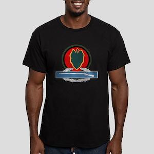 24th Infantry CIB Men's Fitted T-Shirt (dark)