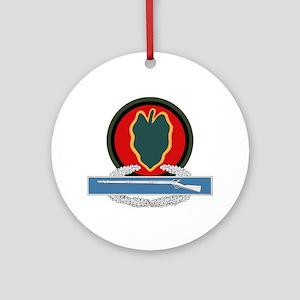 24th Infantry CIB Ornament (Round)