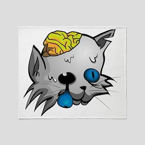Zombie Cat Throw Blanket