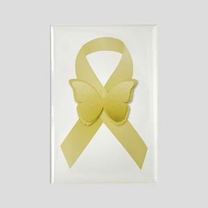 Yellow Awareness Ribbon Rectangle Magnet