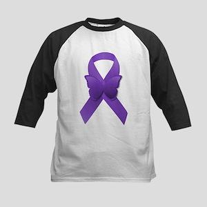 Purple Awareness Ribbon Kids Baseball Jersey