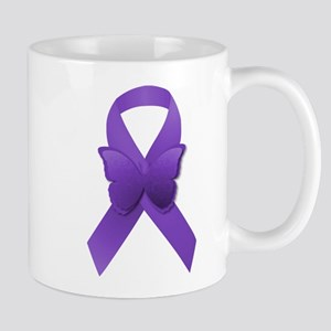 Purple Awareness Ribbon Mug