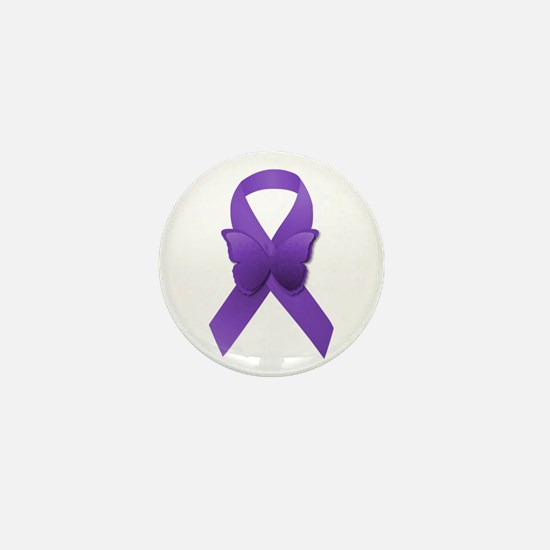 Purple Awareness Ribbon Mini Button