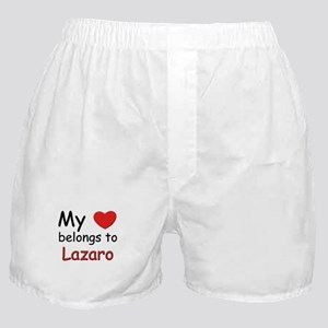 My heart belongs to lazaro Boxer Shorts