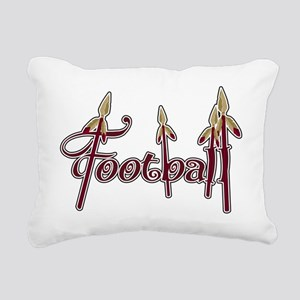 garnet and gold football Rectangular Canvas Pillow