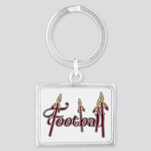 garnet and gold football Landscape Keychain