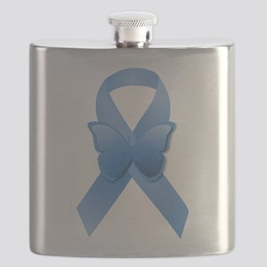 Blue Awareness Ribbon Flask