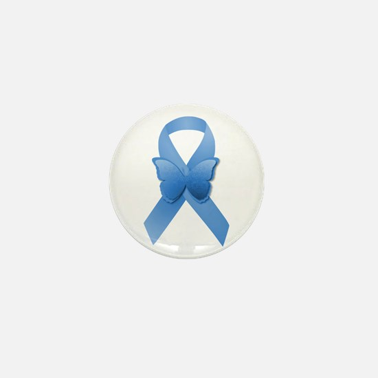 Blue Awareness Ribbon Mini Button