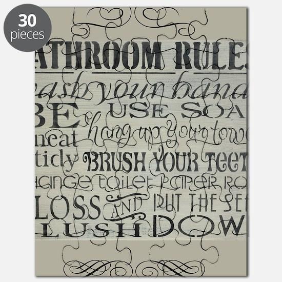 bathroom rules Puzzle