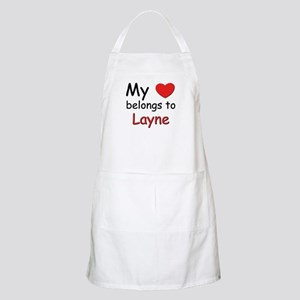 My heart belongs to layne BBQ Apron