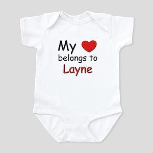 My heart belongs to layne Infant Bodysuit