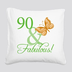 fabulousII_90 Square Canvas Pillow