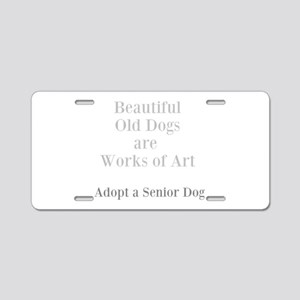 Beautiful old dogs Aluminum License Plate