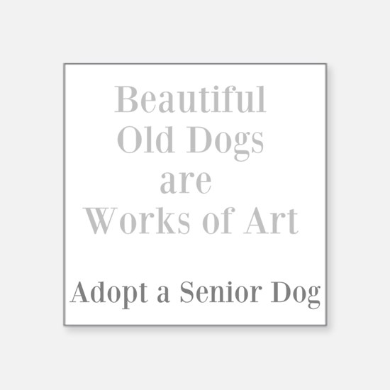 Beautiful old dogs Sticker