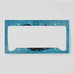 mermaid-worn_12x18 License Plate Holder