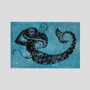 mermaid-worn_12x18 Rectangle Magnet
