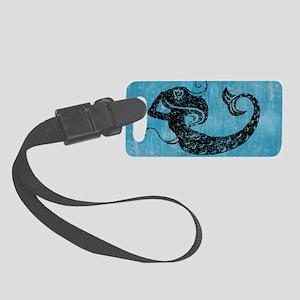 mermaid-worn_12x18 Small Luggage Tag