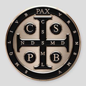 St. Benedict Medal Round Car Magnet