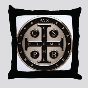 St. Benedict Medal Throw Pillow