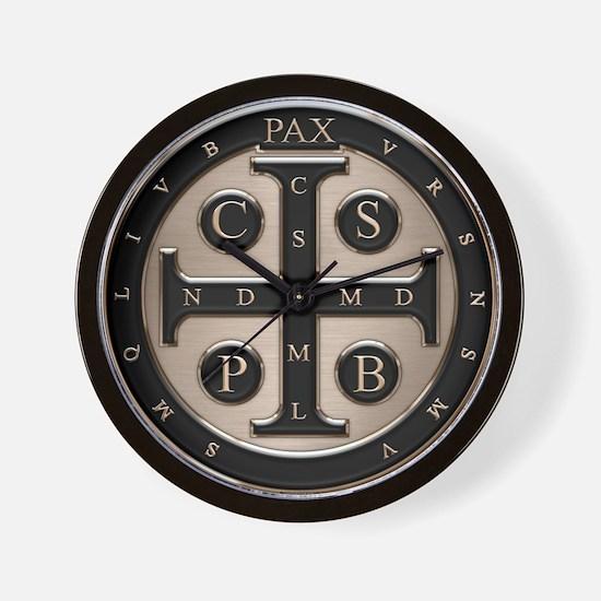 St. Benedict Medal Wall Clock