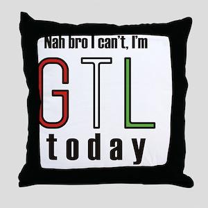 Nah Bro Throw Pillow