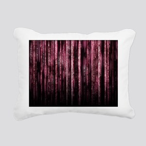 Digital Rain - Red Rectangular Canvas Pillow