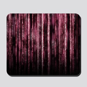 Digital Rain - Red Mousepad