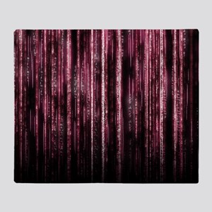 Digital Rain - Red Throw Blanket