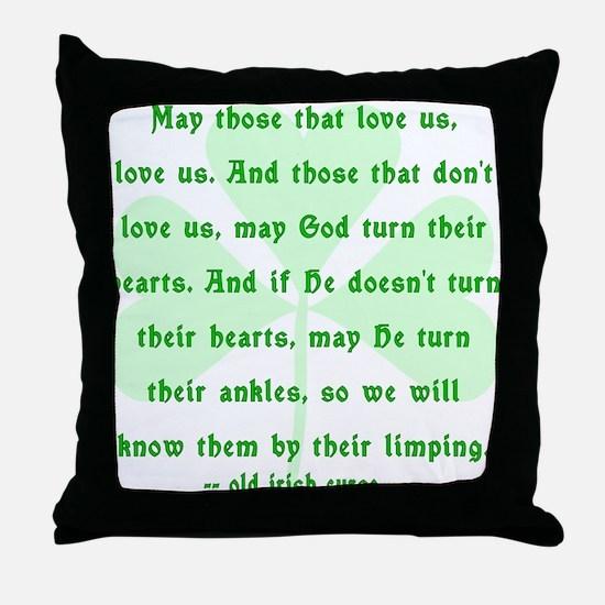 Irish Curse or Toast Throw Pillow