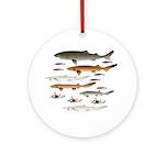 Deep Sea Sharks School 2 c Ornament (Round)