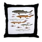 Deep Sea Sharks School 2 c Throw Pillow