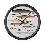 Deep Sea Sharks School 2 c Large Wall Clock