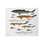 Deep Sea Sharks School 2 c Throw Blanket