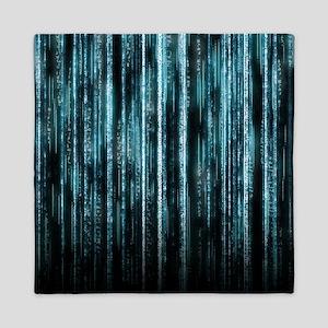 Digital Rain - Blue Queen Duvet
