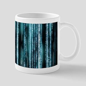 Digital Rain - Blue Mug
