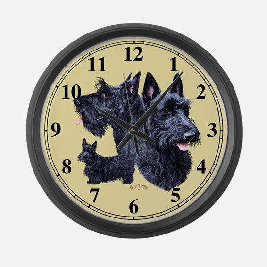 Scottish Terrier Large Wall Clock